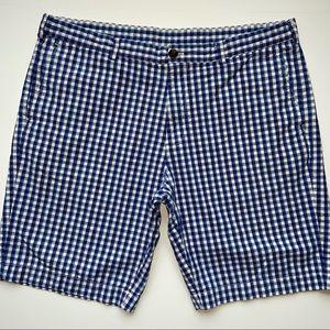 Brooks Brothers Blue Check Plaid Bermuda Shorts